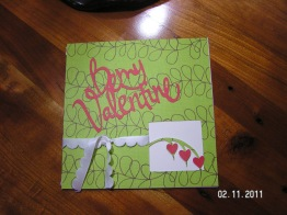 Card 2 ~ Cut from Walk in My Garden cartridge