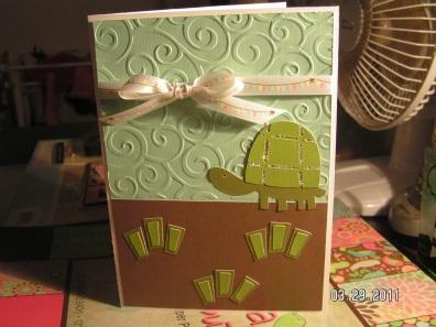 Turtle Card ~ Walk in My Garden Cartridge