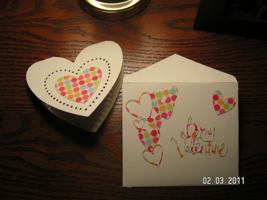 Front of card and envelope