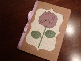 Hydrangea Birthday Card - Walk In My Garden