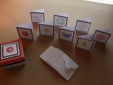 3x3 Mini Notes, Envelopes, and Box