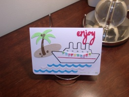 Bon Voyage! Card - Potpourri Basket, Wild Card