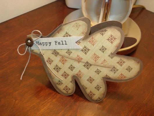 Autumn Leaf Shape Card (Potpourri Basket or Doodlecharms)