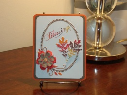 Colors of Autumn Thanksgiving Card - Sizzix Elegant Wreath, Kaleidacolor Ink