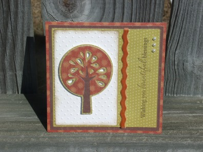 Autumn Tree - Thanksgiving Card (Cricut's Straight from the Nest)