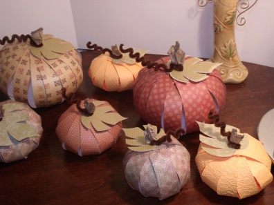 Paper Pumpkins - Leaves from Cricut's Straight from the Nest