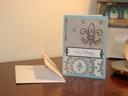 Birthday Card for Dad - Fleur-de-lis from Potpourri Basket