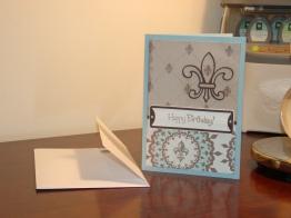 Birthday Card for Dad - Fleur-de-lis from Potpourri Basket