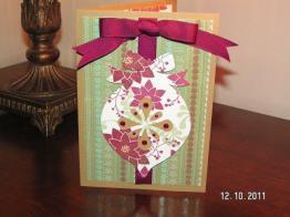 Burgundy Ornament Card