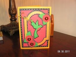 Hummingbird Card - Cricut Lite Bloom