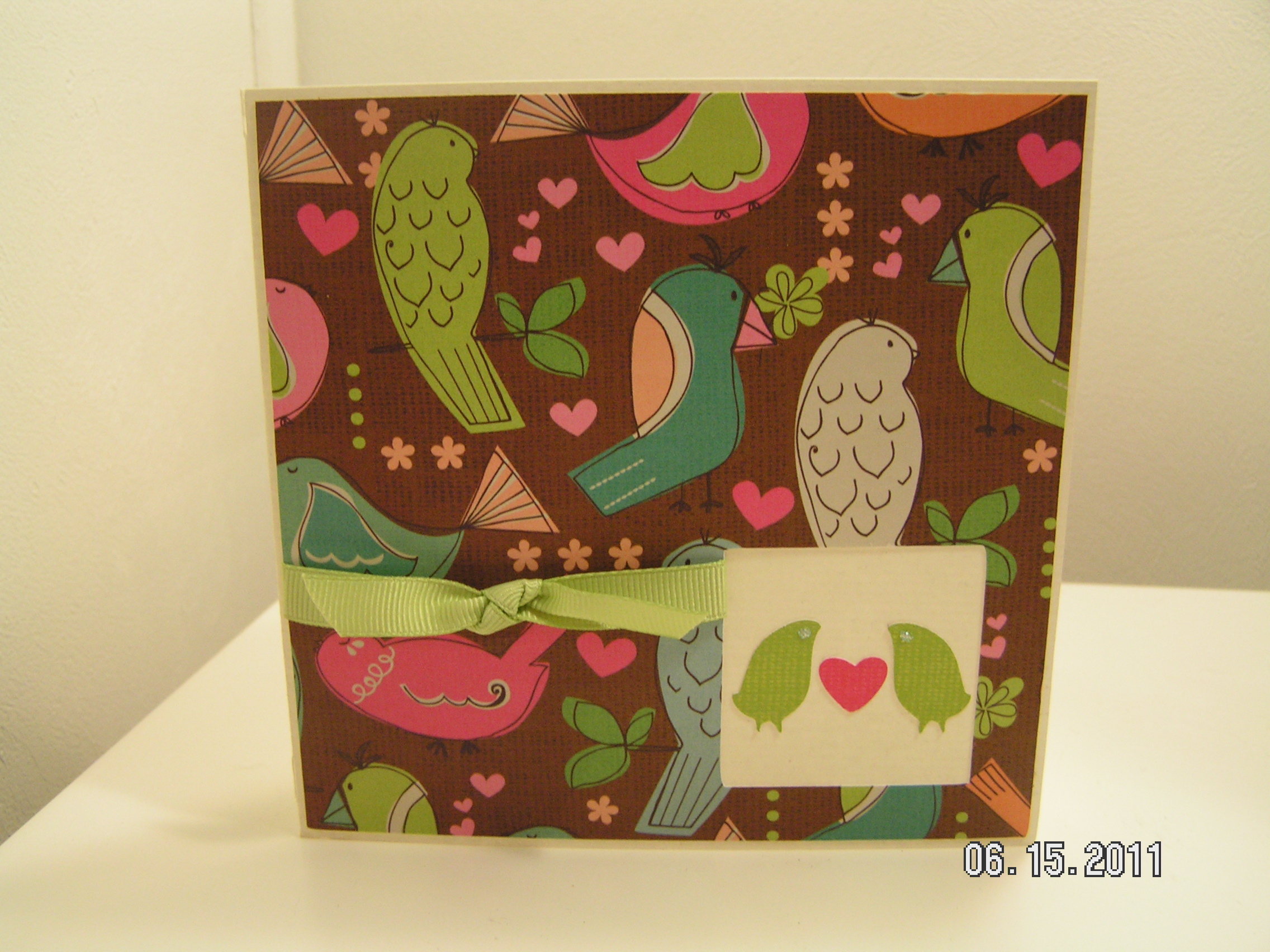 Love birds anniversary card southern cricut lady love birds anniversary card biocorpaavc Gallery