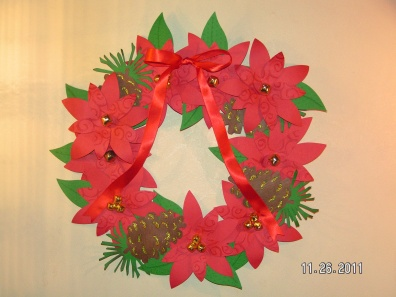 Christmas Poinsettia Wreath - Accent Essentials