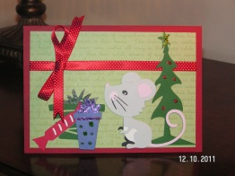 Christmas Mouse Card - Four Legged Friends