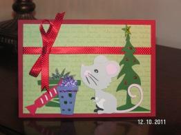 Christmas Mouse Card - Four Legged Friends