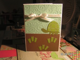 Cards for Spring - Turtle