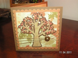 Autumn Tree Thanksgiving Card - Cricut Lite Bloom