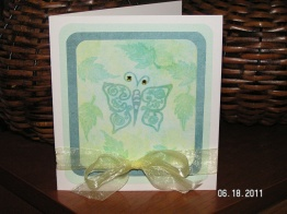 Bemused Butterfly Card - handmade