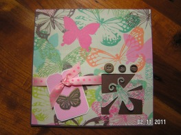Poteeka Souffle Butterfly Card - Cricut's Walk in My Garden