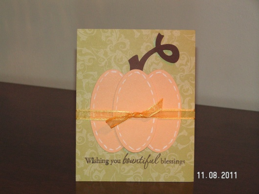Thanksgiving Pumpkin Card - Wild Card