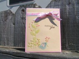 Sizzix Birds of a Feather (clear embossing pen and chalk)