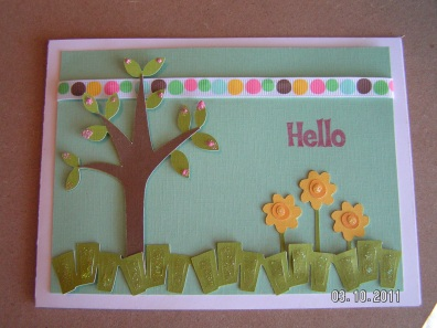 Cards for Spring - Hello