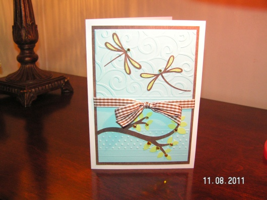 Dragonflies Anniversary Card - Pagoda