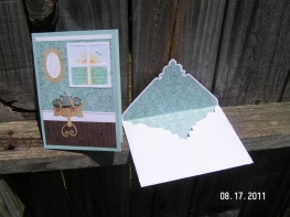Romantic Retreat Thank You Card with Envelope