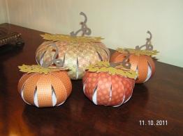 3-D Paper Pumpkins