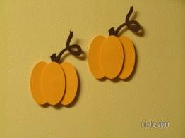 Pumpkin Magnets - Using Wild Card Cartridge