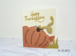 Pumpkin Thanksgiving Card - Wild Card
