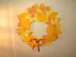 Autumn Wreath (Not a Card But Made With Cricut)
