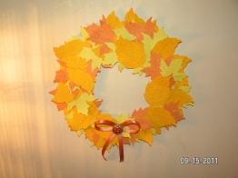 Autumn Wreath (Not a Card But Made With Cricut)