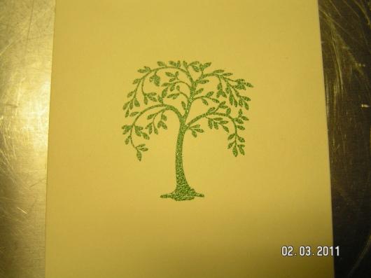 Martha Stewart Tree Stamp and Green Embossing Powder