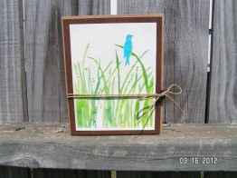 "Masculine Nature Card - ""Bird Call"" Embossing with Chalk"