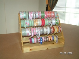 Handmade Ribbon Dispenser - Courtesy of my husband