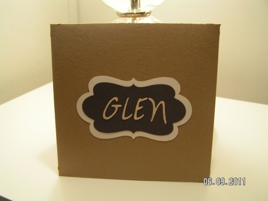 Masculine Envelope with Recipient's Name
