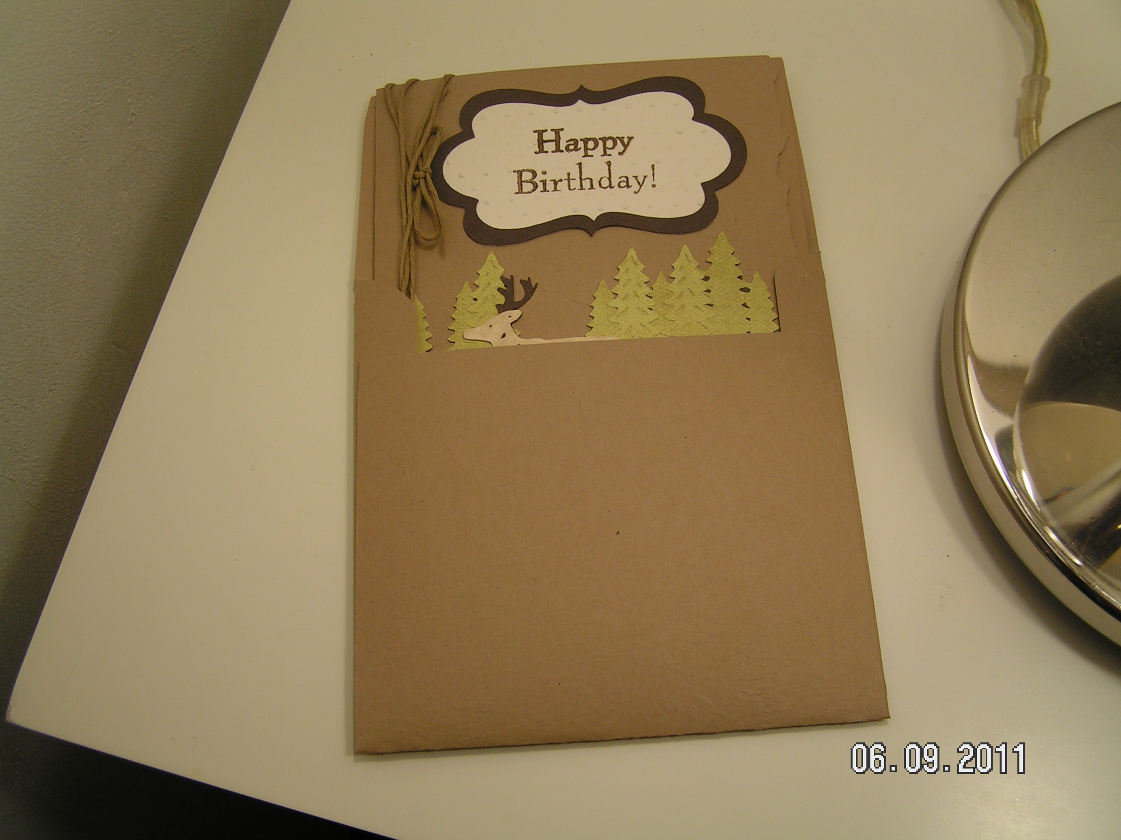 Masculine Birthday Cards Made With Cricut ~ Just because cricut cartridge truck card by amanda masculine