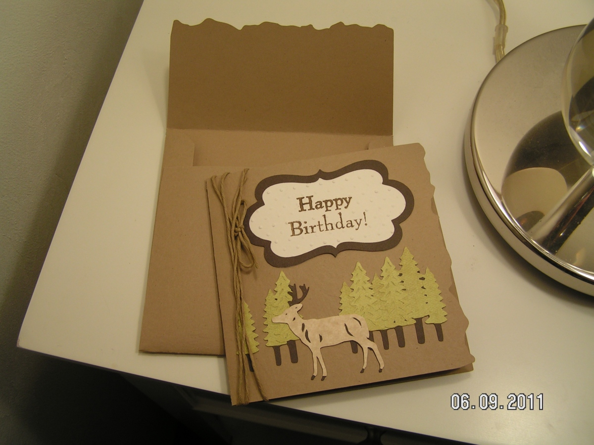 A Masculine Birthday Card for My Dear Hubby