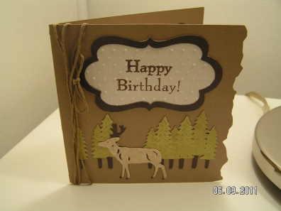 Birthday Card for Dear Hubby - Cricut's Camp Out