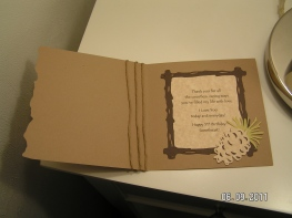 Masculine Card's Inside Sentiment (Camp Out)