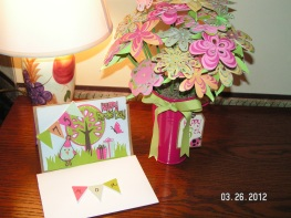 Paper Bouquet and Birthday Card