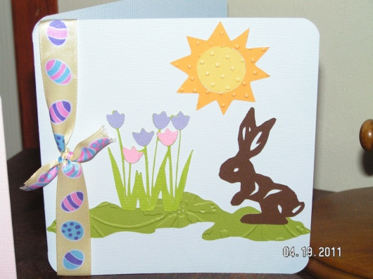 Easter Card in Light Blue