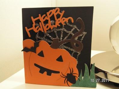 Halloween Jack-O'-Lantern Card