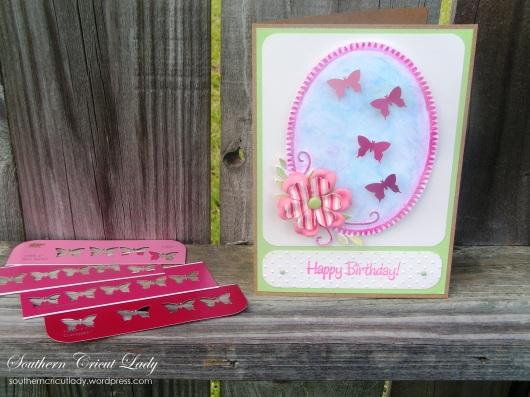 Paint Chip Butterflies - Birthday Card