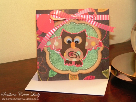 Owl Birthday Card - Straight From the Nest