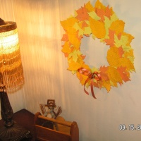 Autumn Wreath ~ Made From Cricut