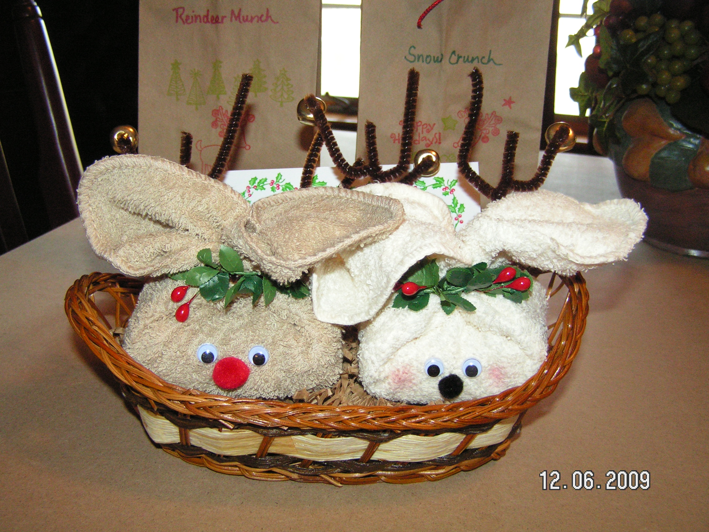 Christmas Crafts Made With Washcloths