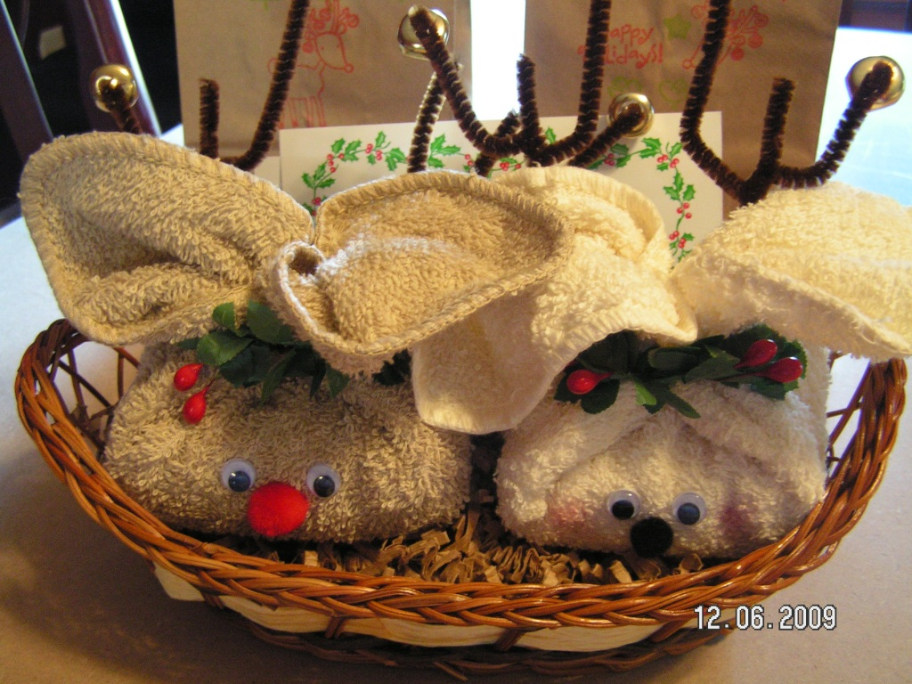Rudy & Trudy Reindeer - Made from Soap and Washcloths