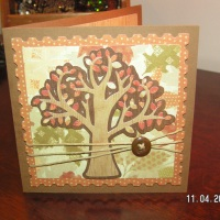 Autumn Leaves on a Tree - Thanksgiving Card