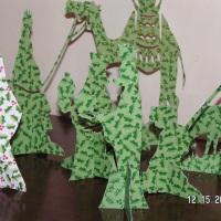 Paper Nativity Scene - Christmas Village